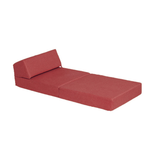 Scatter Box Tweed 200 25x30x205 Foam Chair Bed Red Abbeylands