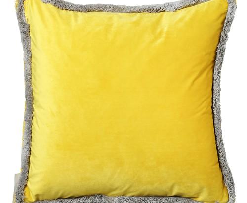 Scatter Box Milana 45x45cm Cushion, Yellow/Grey