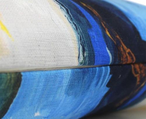 Scatter Box - Solas Blue Ochre Cushion Zip 45cm