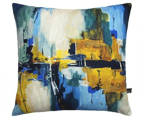 Scatter Box - Solas Blue Ochre Cushion 45cm