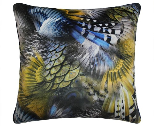 Scatter Box - Wilde Blue Ochre Cushion 45cm
