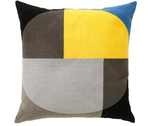 Scatter Box Zodiac 45x45cm Cushion, Ochre/Grey
