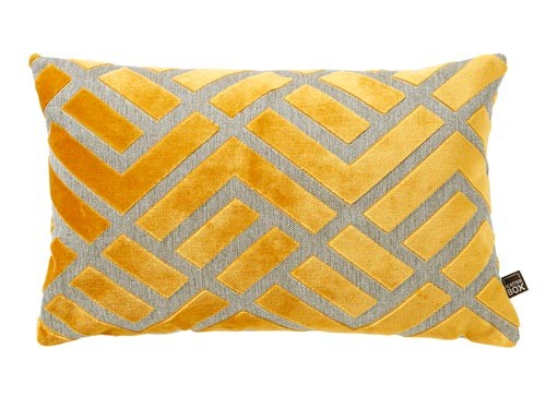 Scatter Box - Home Furnishings Ireland - Senna Yellow Cushion, 35x50cm Oblong