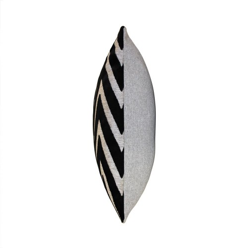 Scatter Box - Bowie Black Cushion Side View 43cm