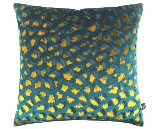 Scatter Box - Harlow Teal Gold Cushion Reverse 43cm
