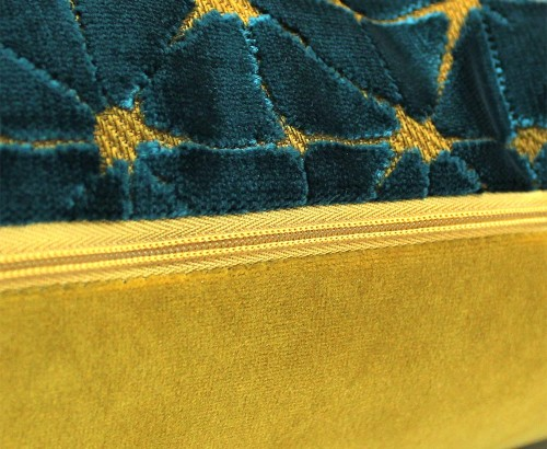 Scatter Box - Jasper Teal Gold Cushion 35x50cm