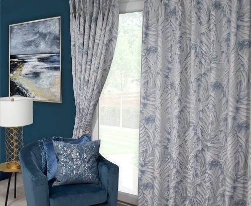 Zahara blue curtains
