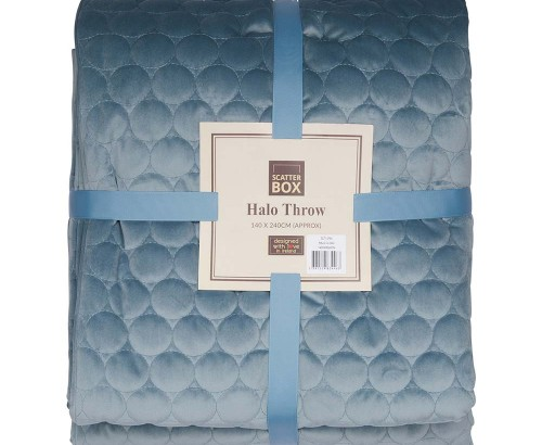 Halo cloud blue throw