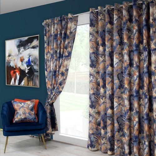 Aria blue curtain
