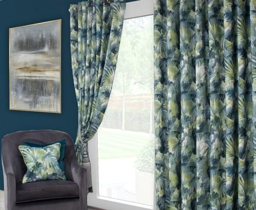 Aria teal curtain