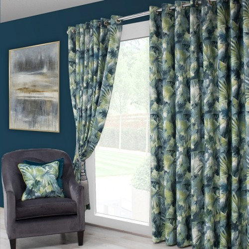 Aria teal curtain