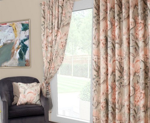 Edie blush curtain