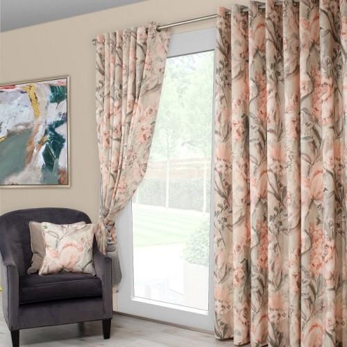 Edie blush curtain