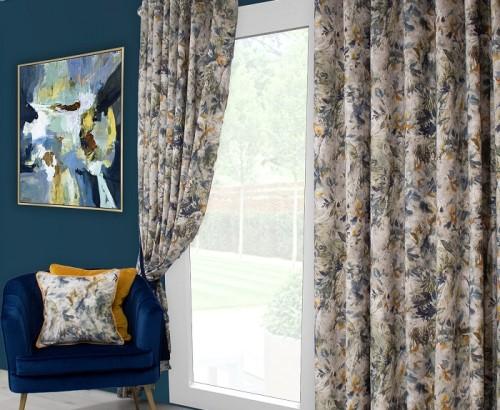 Seren blue curtain