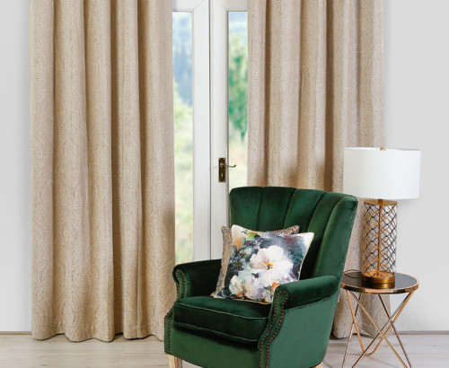 Scatter Box Odette Key Pair of Curtains, Mink