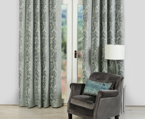 Jasmine curtains, Duck Egg
