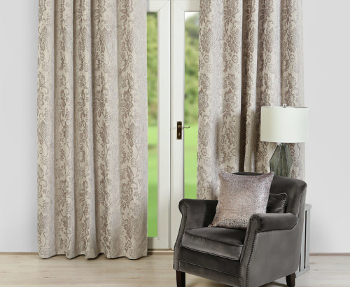 jasmine curtains, silver