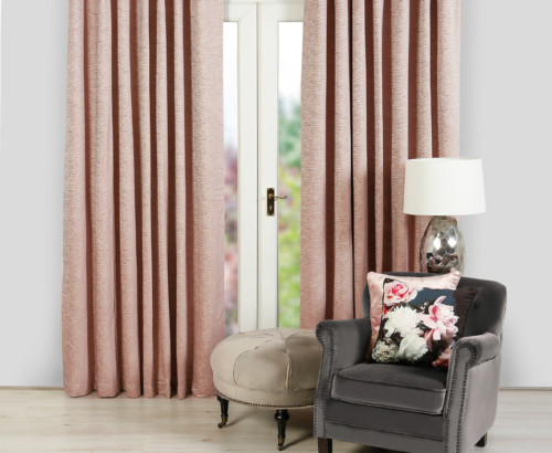 Malmo, blush curtains